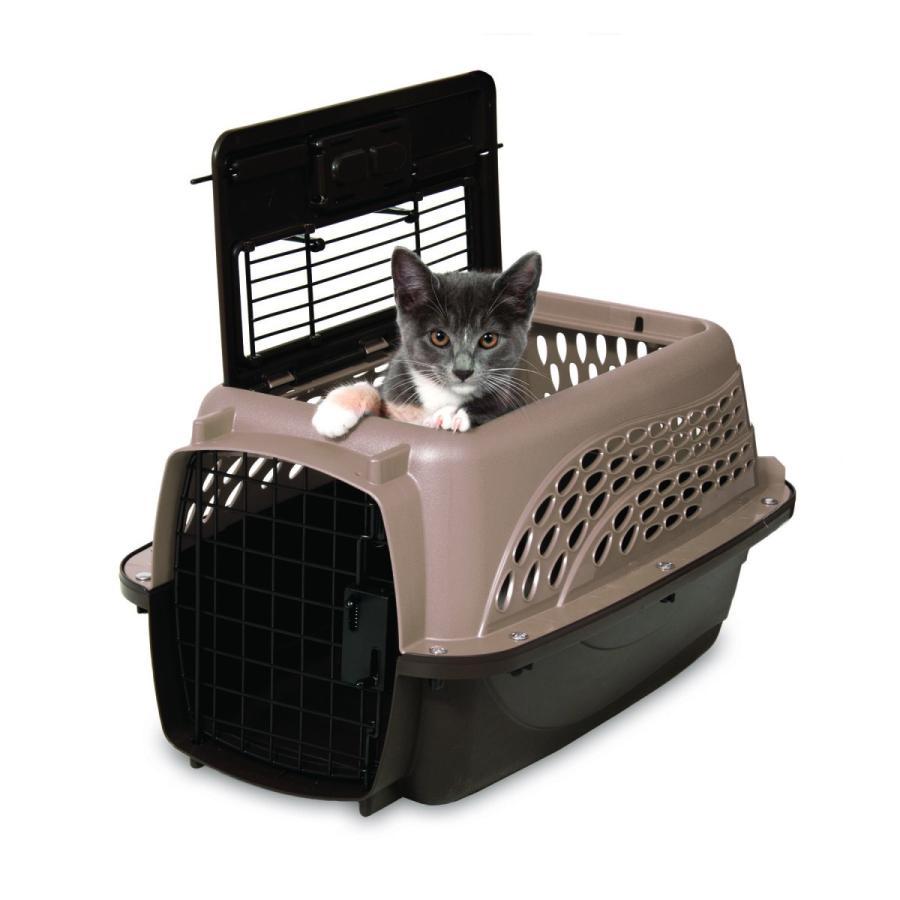 ペットケージ 旅行用 バリケンネル 航空機用 飛行機 クレート キャリー ダブルドア 上開き 猫 小動物 ウサギ SM ( 2ドア バリケンネル SM コーヒー )|catch-shop|06