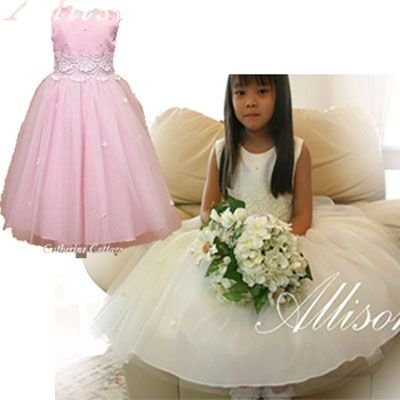* * A品 * * * 子供ドレス 刺繍レースとビーズのドレス   結婚式 発表会 七五三 子供服フォーマルドレス TAK|catherine|02