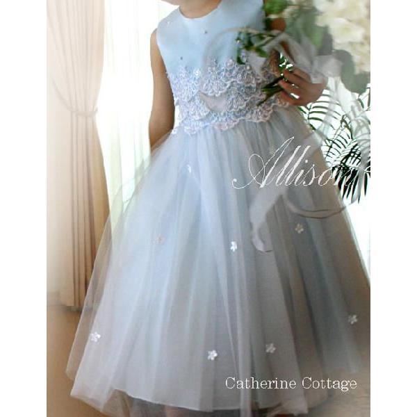* * A品 * * * 子供ドレス 刺繍レースとビーズのドレス   結婚式 発表会 七五三 子供服フォーマルドレス TAK|catherine|03