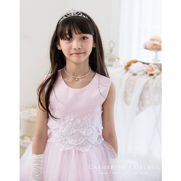 * * A品 * * * 子供ドレス 刺繍レースとビーズのドレス   結婚式 発表会 七五三 子供服フォーマルドレス TAK|catherine|04