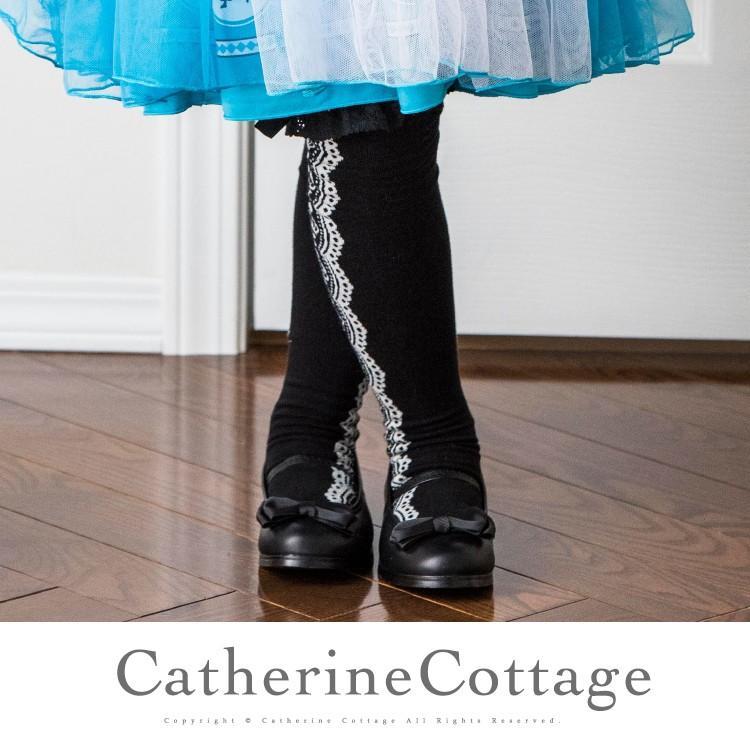 靴下 子供用 童話柄ニーハイソックス 女の子 メルヘン柄 レース リボン ハロウィン仮装 S M L 13 - 24cm [YUP6]|catherine|03