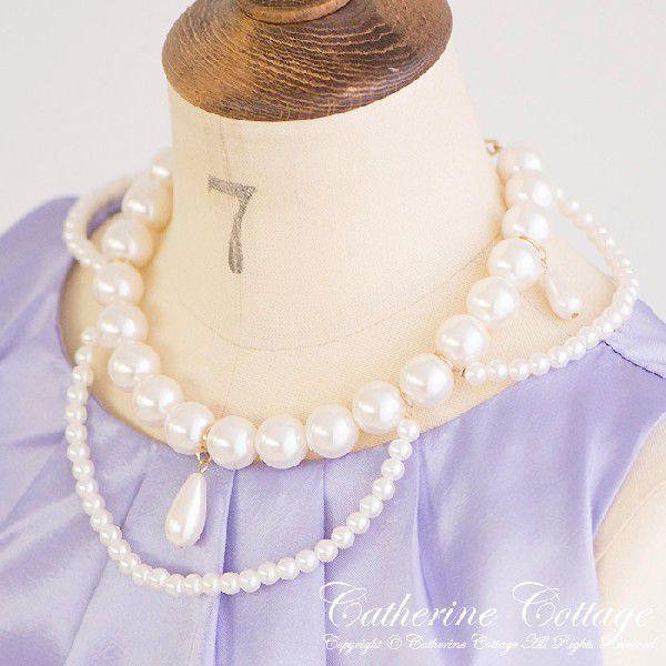 ヴィクトリアンパールネックレス 子供・ティーンズドレスに合わせて 子供服フォーマルドレス TAK|catherine