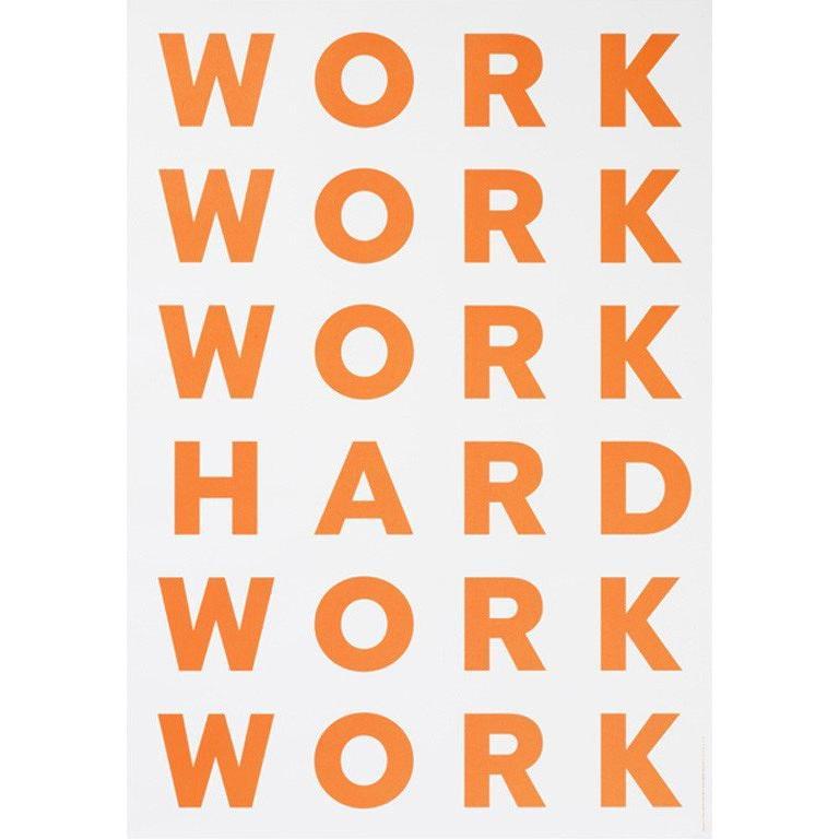 PLAYTYPE Work Hard ポスター|catstyle