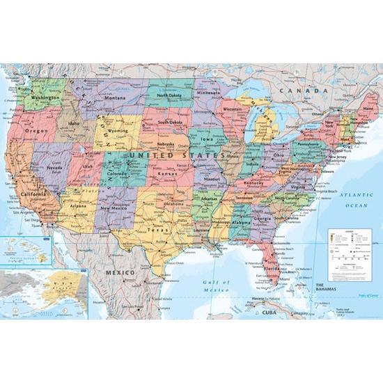 アメリカ 地図 ポスター catstyle