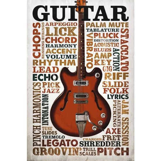 ギター リフ ポスター catstyle