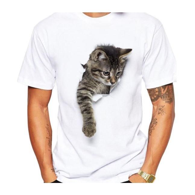 猫 猫柄 tシャツ シャツ トップス メンズ 半袖 白 イラスト かわいい おしゃれ ねこ ネコ グッズ 雑貨 ファッション Ct152 お取り寄せ猫雑貨 通販 Yahoo ショッピング