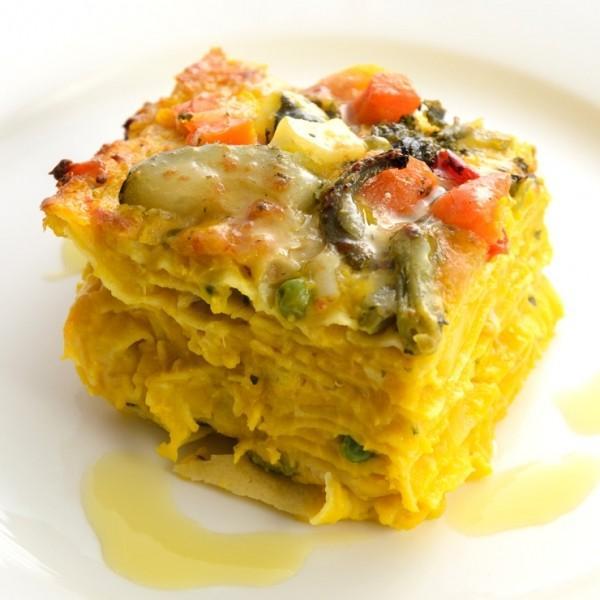 彩り野菜の ミルフィーユラザニア cavacavallo