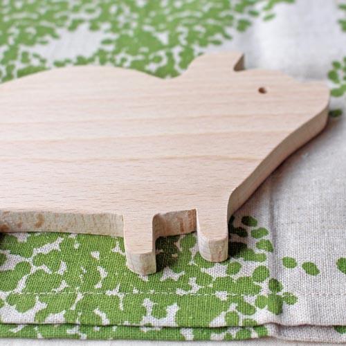 木製 鍋敷き ぶたさんなべしき 日本製 ポットスタンド かわいい 天然木 ブナ cayest 02