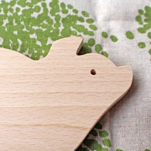 木製 鍋敷き ぶたさんなべしき 日本製 ポットスタンド かわいい 天然木 ブナ cayest 03