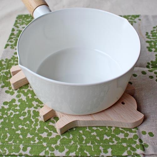 木製 鍋敷き ぶたさんなべしき 日本製 ポットスタンド かわいい 天然木 ブナ cayest 07
