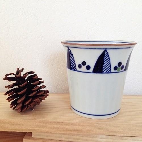 フリーカップ 湯呑 湯飲み 焼酎カップ 京都染付 陶峰窯 手作り オリジナルカップ |cayest|06