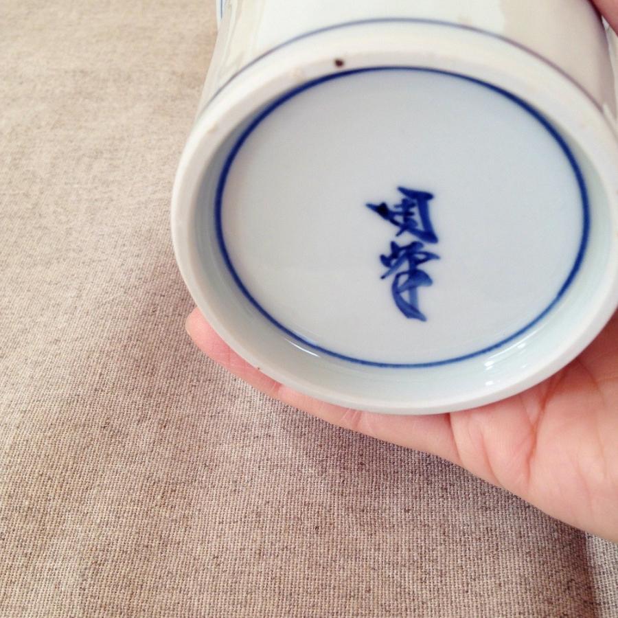 フリーカップ 湯呑 湯飲み 焼酎カップ 京都染付 陶峰窯 手作り オリジナルカップ |cayest|02