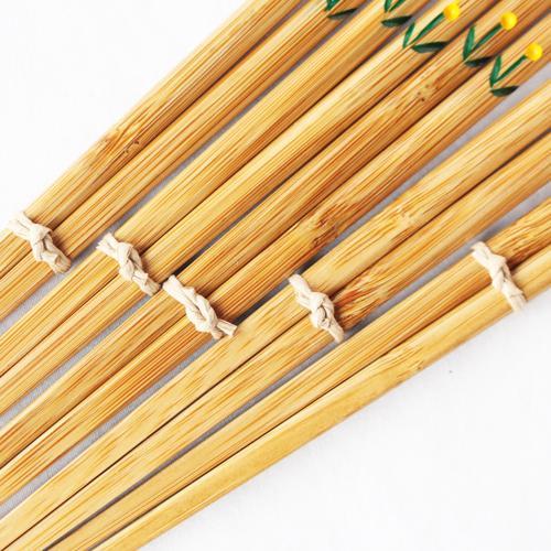 竹箸 チューリップ 21.5cm 大人用 赤/黄 かわいい お箸 国産孟宗竹 日本製 cayest 05