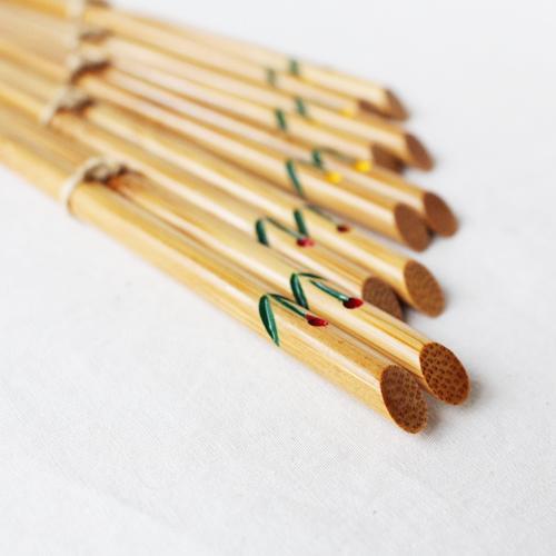 竹箸 チューリップ 21.5cm 大人用 赤/黄 かわいい お箸 国産孟宗竹 日本製 cayest 06
