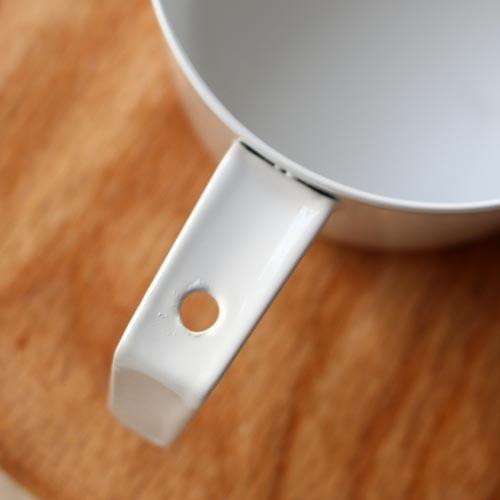 計量カップ ホーロー 白  琺瑯 無地 目盛りなし 日本製 おしゃれ かわいい cayest 06