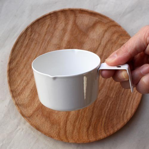 計量カップ ホーロー 白  琺瑯 無地 目盛りなし 日本製 おしゃれ かわいい cayest 07