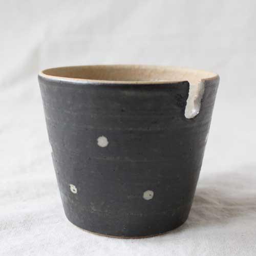 シュガーポット ドット 黒 陶器 砂糖入れ 水玉 かわいい 信楽焼 cayest 04
