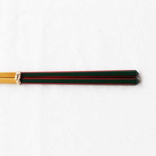 竹箸 ダイヤカット 赤/緑/黒 22.5cm 細め お箸 国産孟宗竹|cayest|09