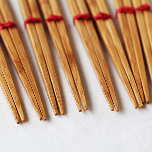 竹箸 チューリップ 16.5cm 子供用 赤/黄 かわいい お箸 国産孟宗竹 日本製 cayest 05