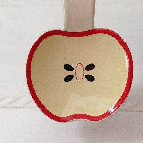 琺瑯 フルーツ柄 ミニスプーン 10cm スイカ/オレンジ/リンゴ 子供用 デザート用 ホーロー 日本製|cayest|05
