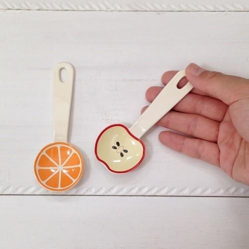 琺瑯 フルーツ柄 ミニスプーン 10cm スイカ/オレンジ/リンゴ 子供用 デザート用 ホーロー 日本製|cayest|02