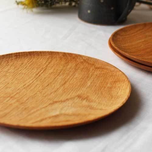 木製プレート 丸皿 18cm パン皿 甲斐幸太郎 レッドオーク 日本製 トレイ おしゃれ|cayest|04