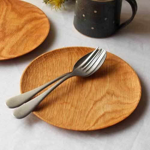 木製プレート 丸皿 18cm パン皿 甲斐幸太郎 レッドオーク 日本製 トレイ おしゃれ|cayest|05