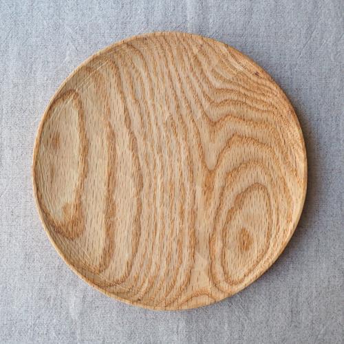 木製プレート 丸皿 18cm パン皿 甲斐幸太郎 レッドオーク 日本製 トレイ おしゃれ|cayest|06