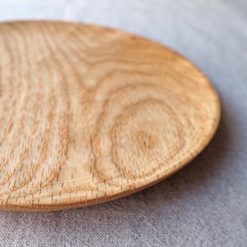 木製プレート 丸皿 18cm パン皿 甲斐幸太郎 レッドオーク 日本製 トレイ おしゃれ|cayest|07