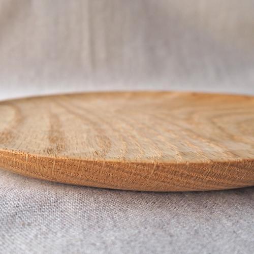 木製プレート 丸皿 18cm パン皿 甲斐幸太郎 レッドオーク 日本製 トレイ おしゃれ|cayest|08