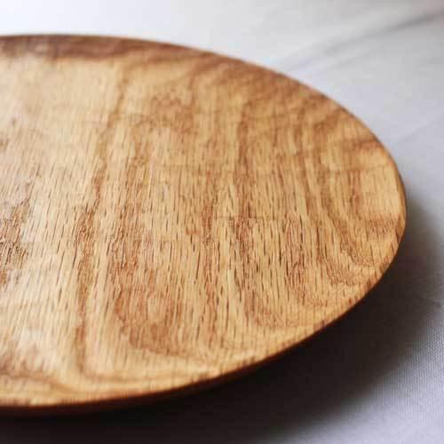 木製プレート 丸皿 21cm パン皿 甲斐幸太郎 レッドオーク 日本製 トレイ おしゃれ|cayest|04