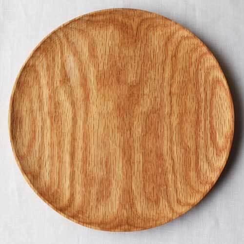 木製プレート 丸皿 21cm パン皿 甲斐幸太郎 レッドオーク 日本製 トレイ おしゃれ|cayest|05