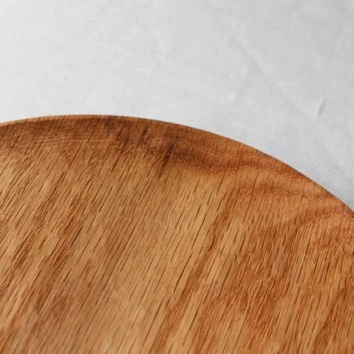 木製プレート 丸皿 21cm パン皿 甲斐幸太郎 レッドオーク 日本製 トレイ おしゃれ|cayest|06