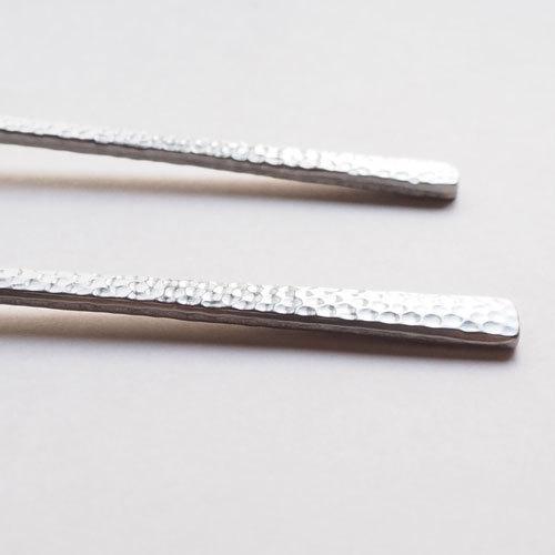 槌目 白 ティースプーン 二股フォーク ステンレス カトラリー 日本製 おしゃれ|cayest|03