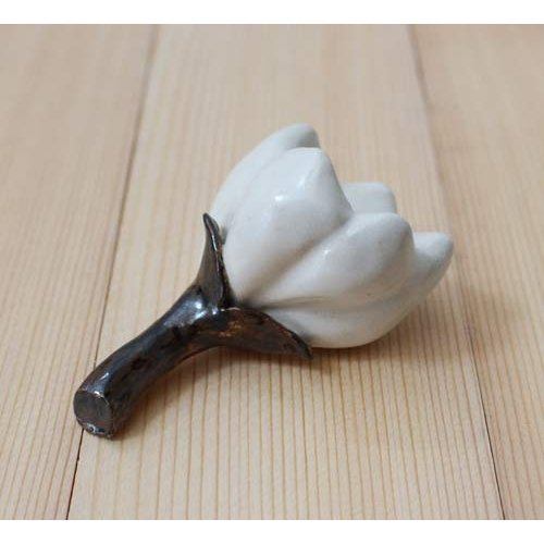 一輪挿し 花器 白い花 花瓶 陶器 ドライフラワー nakanaka50 cayest 03