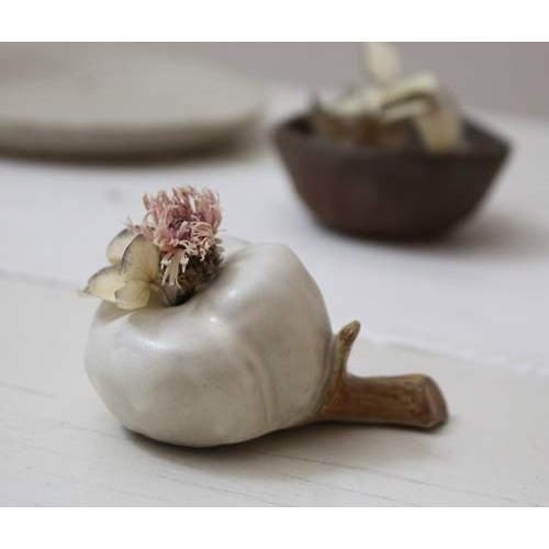 一輪挿し 花器 綿の花 花瓶 陶器 おしゃれ ドライフラワー nakanaka53 cayest