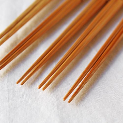 竹箸 ダイヤカット 無地 22.5cm 細め お箸 日本製 国産孟宗竹 cayest 04