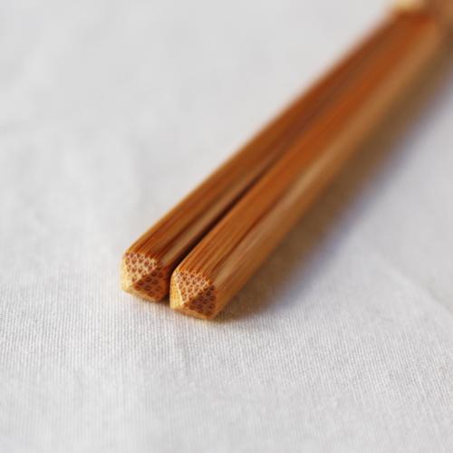 竹箸 ダイヤカット 無地 22.5cm 細め お箸 日本製 国産孟宗竹 cayest 05