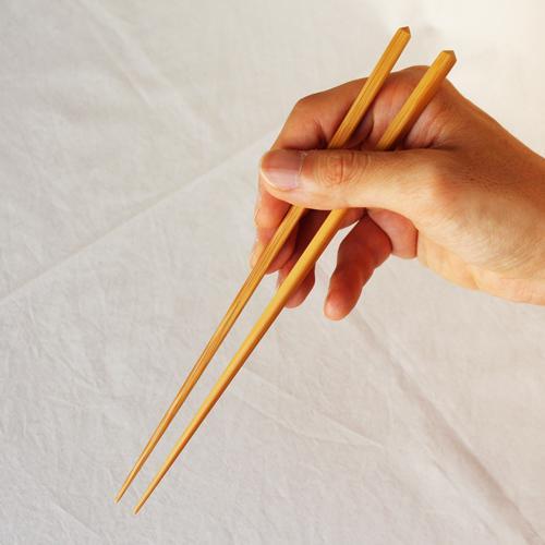 竹箸 ダイヤカット 無地 22.5cm 細め お箸 日本製 国産孟宗竹 cayest 07