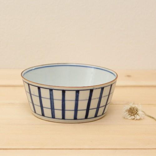 格子模様 チェック 小鉢  鉢 ボウル 和食器 京都染付 日本製 cayest