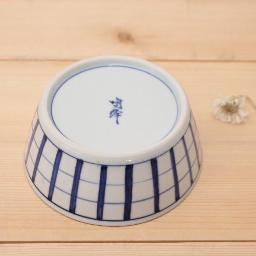 格子模様 チェック 小鉢  鉢 ボウル 和食器 京都染付 日本製 cayest 04