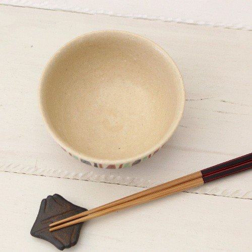 十草 縞模様 めし碗 お茶碗 11cm 廣川みのり スタンダード キナリ 絵付 陶器 おしゃれ|cayest|04