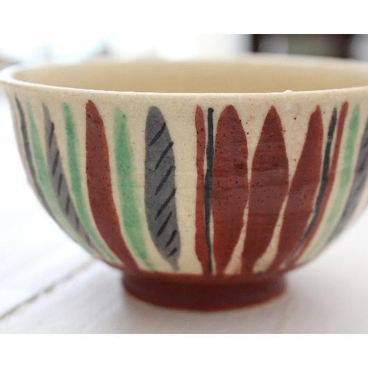 十草 縞模様 めし碗 お茶碗 11cm 廣川みのり スタンダード キナリ 絵付 陶器 おしゃれ|cayest|06