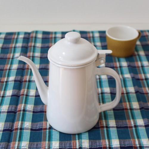 琺瑯 白 コーヒードリップポット 1L ウォーターピッチャー 日本製 水差し|cayest