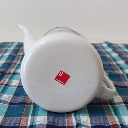 琺瑯 白 コーヒードリップポット 1L ウォーターピッチャー 日本製 水差し|cayest|03