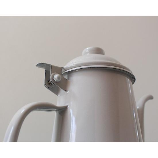 琺瑯 白 コーヒードリップポット 1L ウォーターピッチャー 日本製 水差し|cayest|06