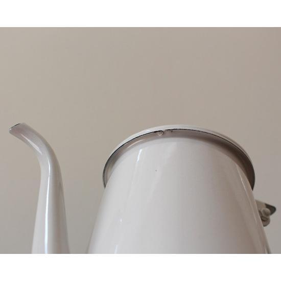 琺瑯 白 コーヒードリップポット 1L ウォーターピッチャー 日本製 水差し|cayest|07