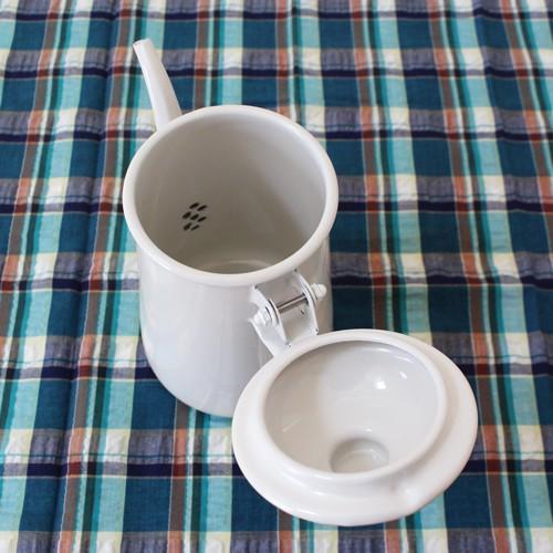 琺瑯 白 コーヒードリップポット 1L ウォーターピッチャー 日本製 水差し|cayest|08