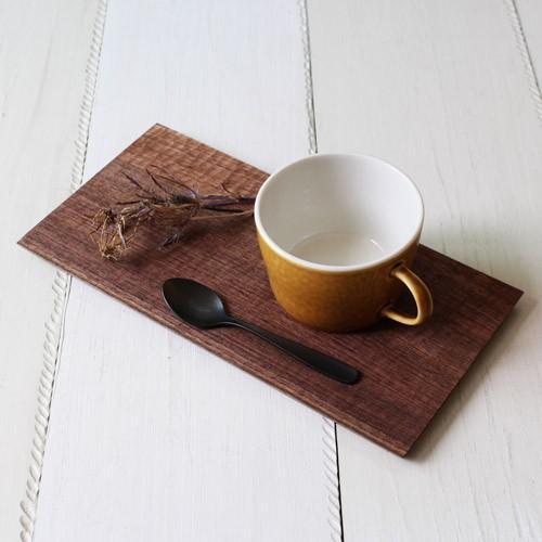 木製プレート 長方形 角型 オイル仕上げ 甲斐幸太郎 ウォルナット/ホワイトオーク コースタートレイ ロング|cayest|02