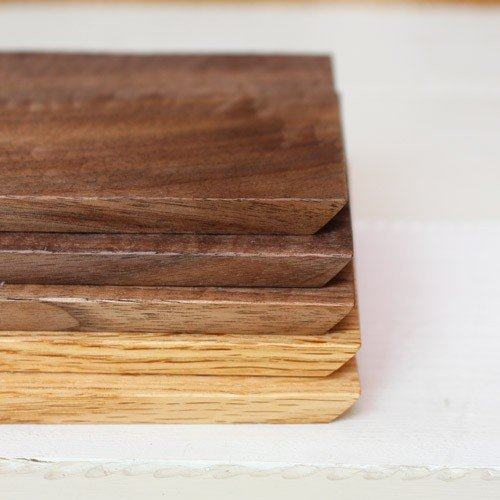 木製プレート 長方形 角型 オイル仕上げ 甲斐幸太郎 ウォルナット/ホワイトオーク コースタートレイ ロング|cayest|05